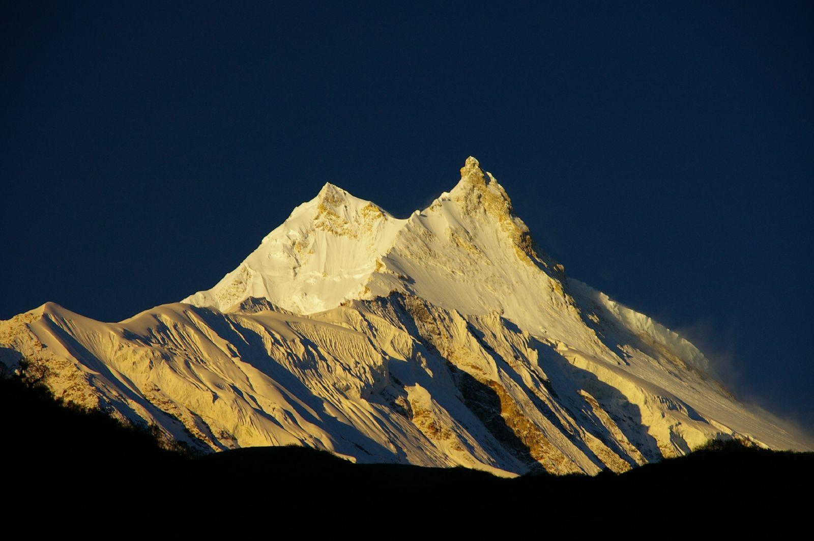 Beautiful scene of manaslu mountain