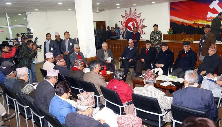 नेकपा स्थायी कमिटी बैठक फेरि पनि स्थगित