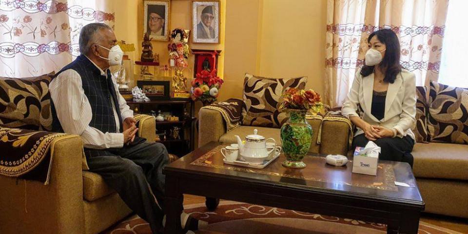 कांग्रेस वरिष्ठ नेता पौडेल र राजदूत यान्छी बीच भेटवार्ता