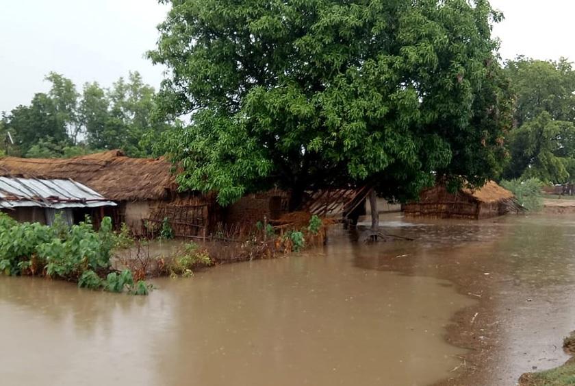 भारतले बनाएको एकतफी बाँधका कारण नरैनापुर गाउँपालिका डुबानमा