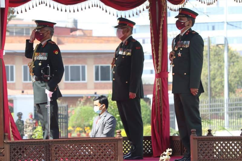 भारतीय सेनाध्यक्षलाई नेपालको मानार्थ महारथीको सम्मान प्रदान